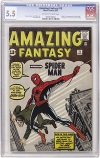 Amazing Fantasy #15 (Marvel, 1962) CGC FN- 5.5 Off-white to white pages