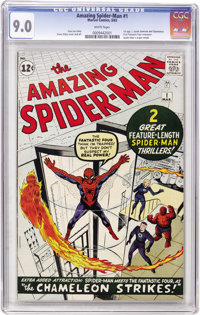The Amazing Spider-Man #1 (Marvel, 1963) CGC VF/NM 9.0 White pages