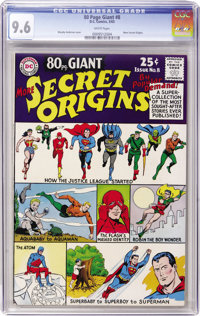 80 Page Giant #8 More Secret Origins (DC, 1965) CGC NM+ 9.6 White pages