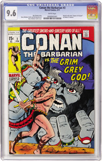 Conan the Barbarian #3 (Marvel, 1971) CGC NM+ 9.6 White pages