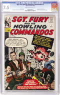 Silver Age (1956-1969):War, Sgt. Fury and His Howling Commandos #1 (Marvel, 1963) CGC VF- 7.5 Cream to off-white pages....