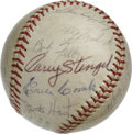 Autographs:Baseballs, 1970 Baseball Hall of Fame Multi-Signed Baseball. OAL (Cronin) orb that appears here was signed by 18 at the Hall of Fame i...