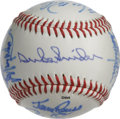 Autographs:Baseballs, Los Angeles and Brooklyn Dodgers Multi-Signed Baseball. Here weoffer a superb collection of former Brooklyn and Los Angele...