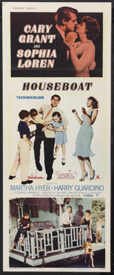 "Houseboat (Paramount, 1958). Insert (14"" X 36""). Romantic Comedy. Starring Cary Grant, Sophia Loren, Martha Hy..."