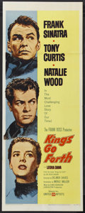 "Movie Posters:War, Kings Go Forth (United Artists, 1958). Insert (14"" X 36""). War.Starring Frank Sinatra, Tony Curtis and Natalie Wood. Direct..."