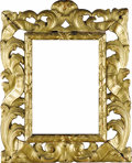 Furniture , A Continental Giltwood Carved Frame. Unknown maker, possibly Italian. Nineteenth century. Carved and gilded wood. Unmarked...