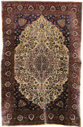 Rugs & Textiles:Carpets, An Antique Kashan Rug. Persia. Circa 1880. Wool, silk. 120.5 inchesx 78.75 inches...