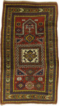 Rugs & Textiles:Carpets, A Rare Kazak Prayer Rug. Caucasian, Circa 1912. Wool. 78.33 inchesx 46 inches. Brightly colored with vegetable dyes....