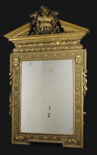A Monumental Giltwood Mirror  Unknown maker, English Late eighteenth/early nineteenth century Giltwood Unmarked 82 inc...