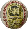 Baseball Collectibles:Others, George Sosnak Folk Art Baseball, Tom Connolly. Perhaps only LeroyNeiman's name is more recognizable to collectors when it ...