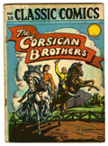 "Golden Age (1938-1955):Classics Illustrated, Classic Comics #20 The Corsican Brothers First Edition - Davis Crippen (""D"" Copy) pedigree (Gilberton, 1944) Condition: GD...."
