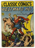 "Golden Age (1938-1955):Classics Illustrated, Classic Comics #14 Westward Ho! First Edition - Davis Crippen (""D""Copy) pedigree (Gilberton, 1943) Condition: GD...."