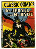 """Golden Age (1938-1955):Classics Illustrated, Classic Comics #13 Dr. Jekyll and Mr. Hyde First Edition - Davis Crippen (""""D"""" Copy) pedigree (Gilberton, 1943) Condition: GD...."""
