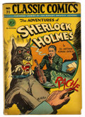 "Golden Age (1938-1955):Classics Illustrated, Classic Comics #33 Adventures of Sherlock Holmes First Edition -Davis Crippen (""D"" Copy) pedigree (Gilberton, 1947) Condition..."