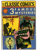 "Golden Age (1938-1955):Classics Illustrated, Classic Comics #21 Three Famous Mysteries First Edition - DavisCrippen (""D"" Copy) pedigree (Gilberton, 1944) Condition: VG/FN..."