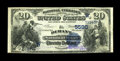 National Bank Notes:Oklahoma, Durant, OK - $20 1882 Date Back Fr. 556 The Durant NB Ch. # (W)5590. Large notes only from this bank, with this attracti...