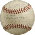 Autographs:Baseballs, Baseball Old Timers Multi-Signed Baseball. Stellar collection ofbaseball signatures has been amassed on the surface of the...