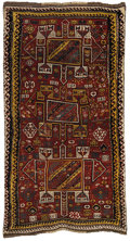 Rugs & Textiles:Carpets, A Rare Antique Kazak Rug. East Persia, Circa 1860. Wool. 108.25inches x 63 inches...