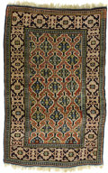 Rugs & Textiles:Carpets, An Antique Shirvan Carpet. Caucasian, Circa 1910. Wool. 59 inches x39.375 inches. Woven with Kufic border....