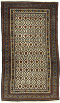 Rugs & Textiles:Carpets, An Antique Daghestan Rug. Caucasian, Circa 1900. Wool. 89.75 inchesx 56.67 inches. Woven with white background and mult...