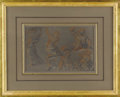 Fine Art - Painting, European:Antique  (Pre 1900), An Italian Life Studies Drawing. Unknown artist, Italian. 18th/19thCentury. White, sepia, and black chalk on brown paper...