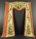 Rugs & Textiles:Tapestries, A Group of Aubusson Curtains. Unknown maker, French. NineteenthCentury. Silk, wool. 111 inches by 89 inches; 111 inches x...