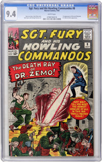 Sgt. Fury and His Howling Commandos #8 (Marvel, 1964) CGC NM 9.4 White pages