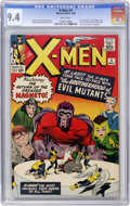 Silver Age (1956-1969):Superhero, X-Men #4 (Marvel, 1964) CGC NM 9.4 White pages....