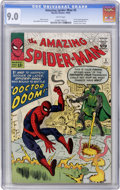 Silver Age (1956-1969):Superhero, The Amazing Spider-Man #5 (Marvel, 1963) CGC VF/NM 9.0 White pages....