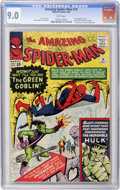 Silver Age (1956-1969):Superhero, The Amazing Spider-Man #14 (Marvel, 1964) CGC VF/NM 9.0 Whitepages....
