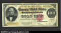 Large Size:Gold Certificates, 1922 $100 Gold Certificate, Fr-1215, Very Fine. This crisp ...