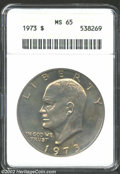 Eisenhower Dollars: , 1973 $1 MS65 PCGS. ...