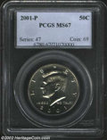 Kennedy Half Dollars: , 2001-P 50C MS67 PCGS. ...