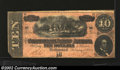 Confederate Notes:1864 Issues, 1864 $10 Horses pulling Cannon; R.M.T. Hunter on right, T-68, ...