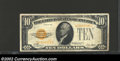 Small Size:Gold Certificates, 1928 $10 Gold Certificate, Fr-2400, VF or so. This one year ...