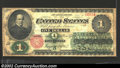 1862 $1 Legal Tender Note, Fr-16, Fine. A tiny edge tear is present in the left margin, otherwise this early Greenback i...