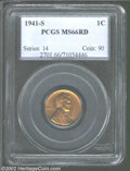 Lincoln Cents: , 1941-S 1C MS66 Red PCGS. ...