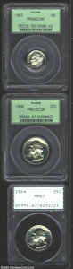 Proof Roosevelt Dimes: , 1963 10C Dime PR68 Deep Cameo PCGS, a lightly toned ...