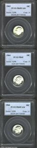 Proof Roosevelt Dimes: , 1963 10C PR69 Cameo PCGS, appreciably contrasted with ...