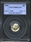 Proof Roosevelt Dimes: , 1964 10C PR69 Cameo PCGS. There is not a single blemish ...