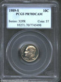 Proof Roosevelt Dimes: , 1989-S 10C PR70 Deep Cameo PCGS. PCGS has only graded 21 ...
