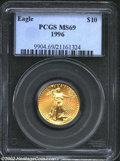 Modern Bullion Coins: , 1996 G$10 Quarter-Ounce Gold Eagle MS69 PCGS. A beautiful ...