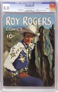 Golden Age (1938-1955):Western, Four Color #38 Roy Rogers - File Copy (Dell, 1944) CGC VF 8.0 Creamto off-white pages....