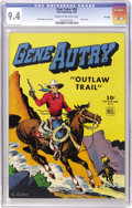 Golden Age (1938-1955):Western, Four Color #83 Gene Autry - File Copy (Dell, 1945) CGC NM 9.4 Creamto off-white pages....