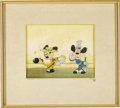 "Animation Art:Production Cel, Mickey and Minnie Mouse ""The Gay Nineties"" Animation Production Cel and Courvoisier Background (Walt Disney, 1941)...."