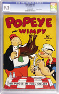Golden Age (1938-1955):Cartoon Character, Four Color #17 Popeye and Wimpy (Dell, 1942) CGC NM- 9.2 Off-whitepages....