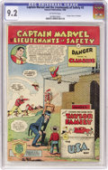 Golden Age (1938-1955):Miscellaneous, Captain Marvel and the Lieutenants of Safety #2 Danger Takes to Climbing (Fawcett, 1950) CGC NM- 9.2 Off-white pages....