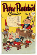 "Golden Age (1938-1955):Funny Animal, Peter Rabbit Comics #5 Davis Crippen (""D"" Copy) pedigree (Avon,1949) Condition: VF+...."