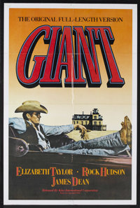 "Giant (Warner Brothers, R-1982). One Sheet (27"" X 41""). Drama. Starring Elizabeth Taylor, Rock Hudson, James D..."