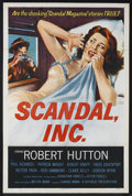 "Movie Posters:Crime, Scandal, Inc. (Republic, 1956). One Sheet (27"" X 41""). Crime.Directed by Edward Mann. Starring Robert Hutton, Paul Richards..."
